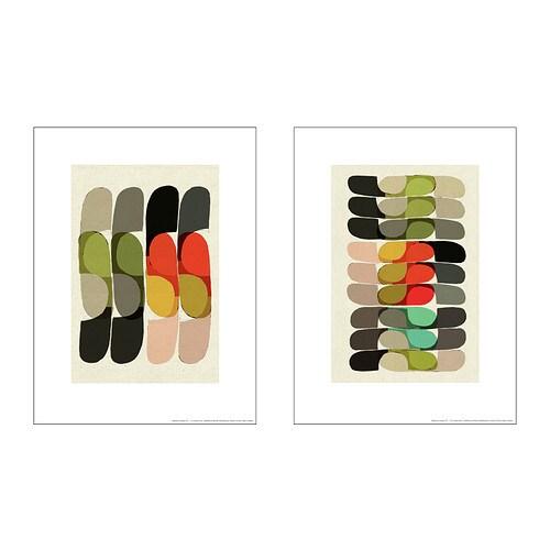 TVILLING Plakat, 2szt. IKEA Motyw autorstwa: Inaluxe. Spójny temat obrazu; prosty sposób na zrobienie kolażu.