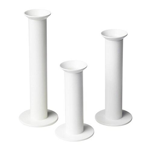 TYNGDKRAFT Набор подсвечников, 3штуки, белый с оттенком-1