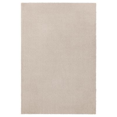 TYVELSE Dywan z krótkim włosiem, kremowy, 133x195 cm