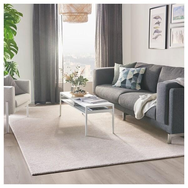 TYVELSE dywan z krótkim włosiem kremowy 300 cm 200 cm 14 mm 6.00 m² 3000 g/m² 1880 g/m² 13 mm