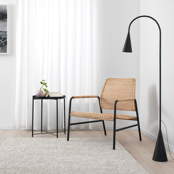 ULRIKSBERG fotel rattan/antracyt 76 cm 67 cm 74 cm 76 cm 20 cm 6.2 cm 54 cm 60 cm 60 cm 37 cm 110 kg