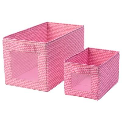 UPPRYMD Pudełko, 2 szt., różowy