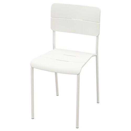 VÄDDÖ krzesło, ogrodowe biały 110 kg 40 cm 46 cm 79 cm 39 cm 46 cm