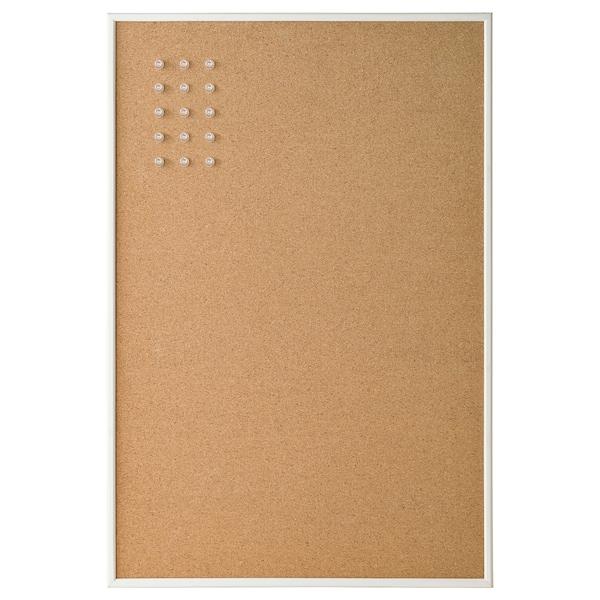 VÄGGIS Tablica na notatki ze szpilkami, biały, 58x39 cm