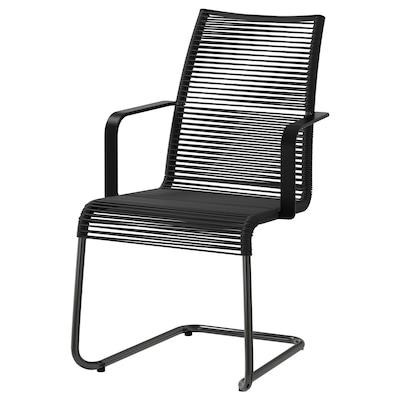 VÄSMAN Krzesło z podłokietnikami, ogr., czarny