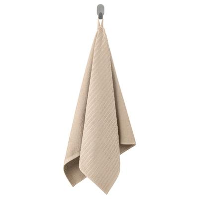 VÅGSJÖN Ręcznik do rąk, jasnobeżowy, 50x100 cm