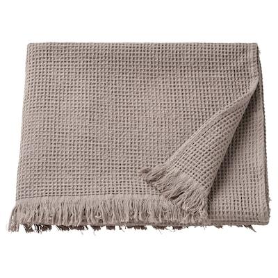 VALLASÅN Ręcznik kąpielowy, jasnoszary/brązowy, 70x140 cm