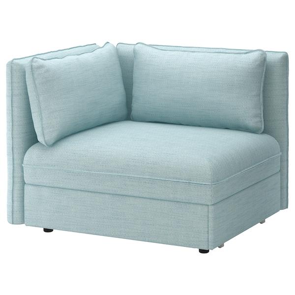 VALLENTUNA Moduł sofy rozkładanej z oparciem, Hillared jasnoniebieski