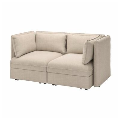 VALLENTUNA Rozkładana sofa modułowa, 2-osobowa, Hillared beżowy