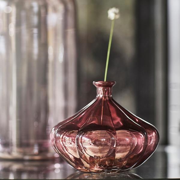 VANLIGEN Wazon, ciemnoczerwony, 11 cm