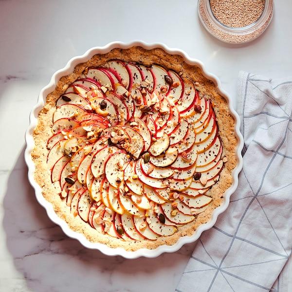 VARDAGEN Naczynie na ciasto, kremowy, 32 cm