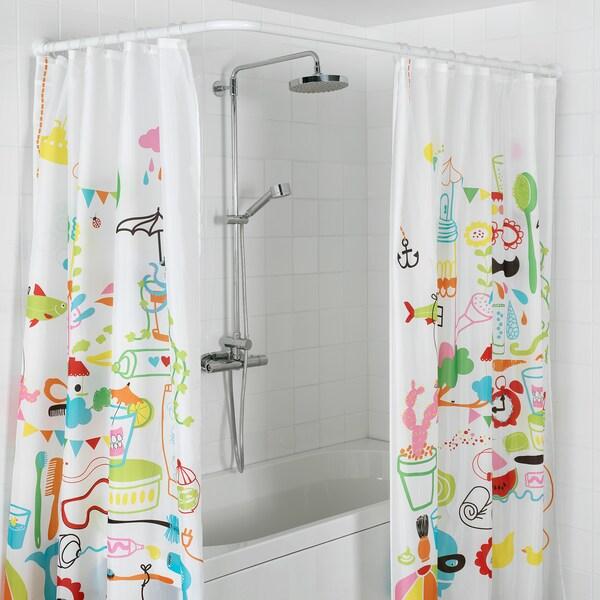 VIKARN Drążek do zasłony prysznicowej, biały