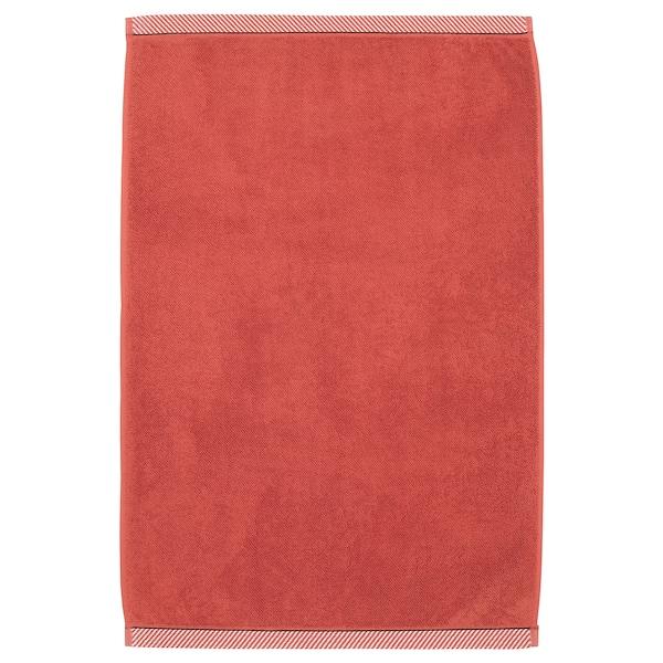 VIKFJÄRD dywanik łazienkowy czerwony 80 cm 50 cm 0.40 m² 1050 g/m²