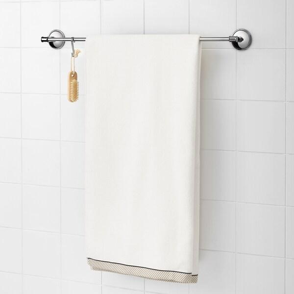 VIKFJÄRD ręcznik kąpielowy biały 140 cm 70 cm 0.98 m² 475 g/m²