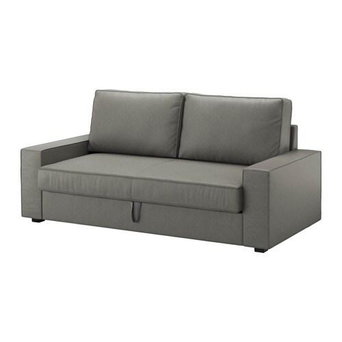 Vilasund Sofa Trzyosobowa Rozkladana Borred Szarozielony Ikea
