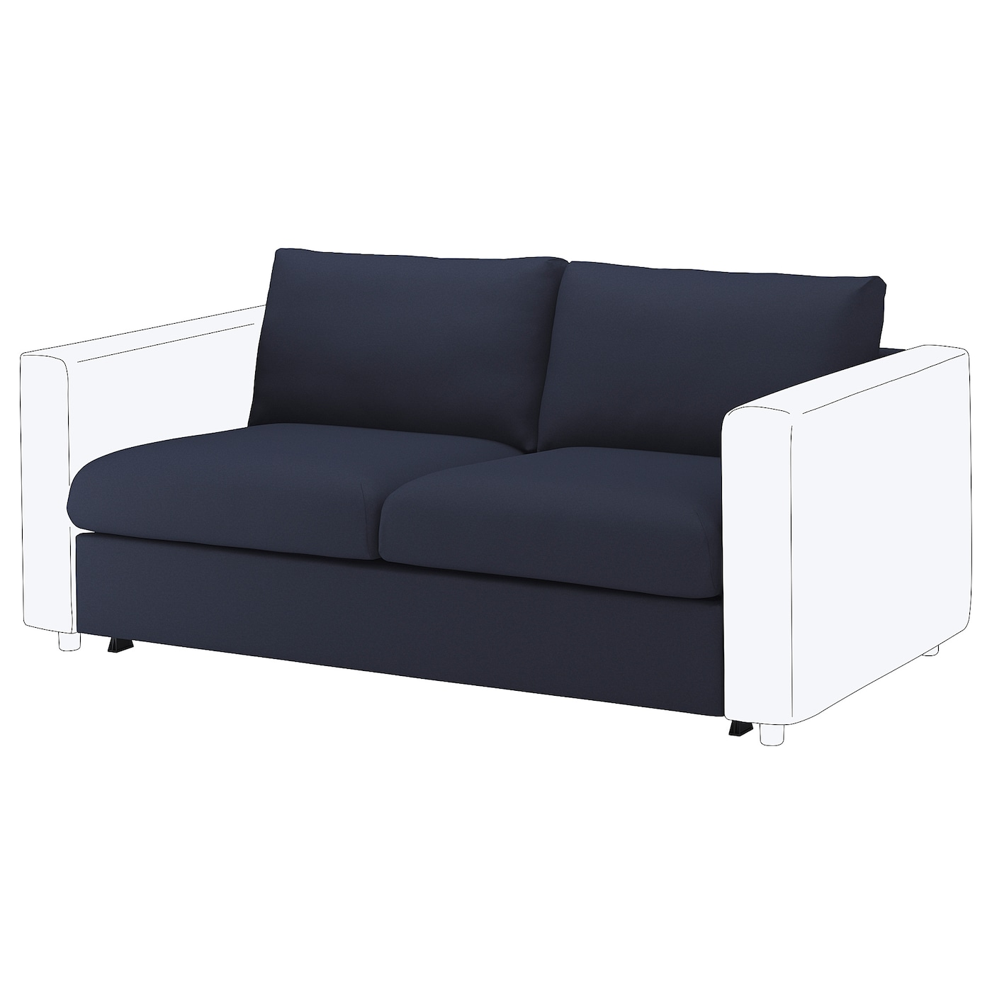 IKEA VIMLE Sekcja 2-os sofa rozkładana, Orrsta czarnoniebieski