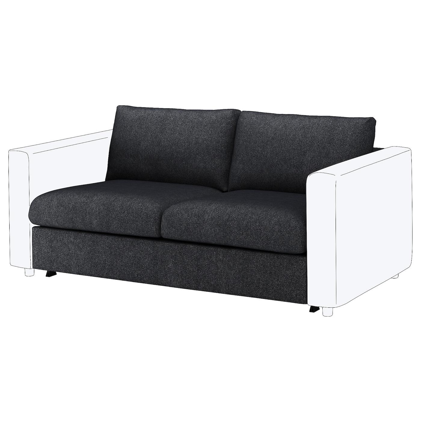 IKEA VIMLE Sekcja 2-os sofa rozkładana, Tallmyra czarny/szary