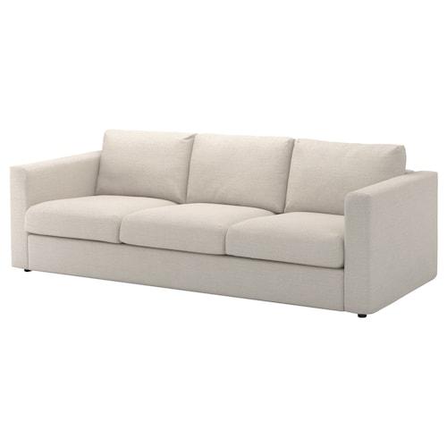 VIMLE sofa 3-osobowa Gunnared beżowy 83 cm 68 cm 241 cm 98 cm 6 cm 15 cm 68 cm 211 cm 55 cm 48 cm