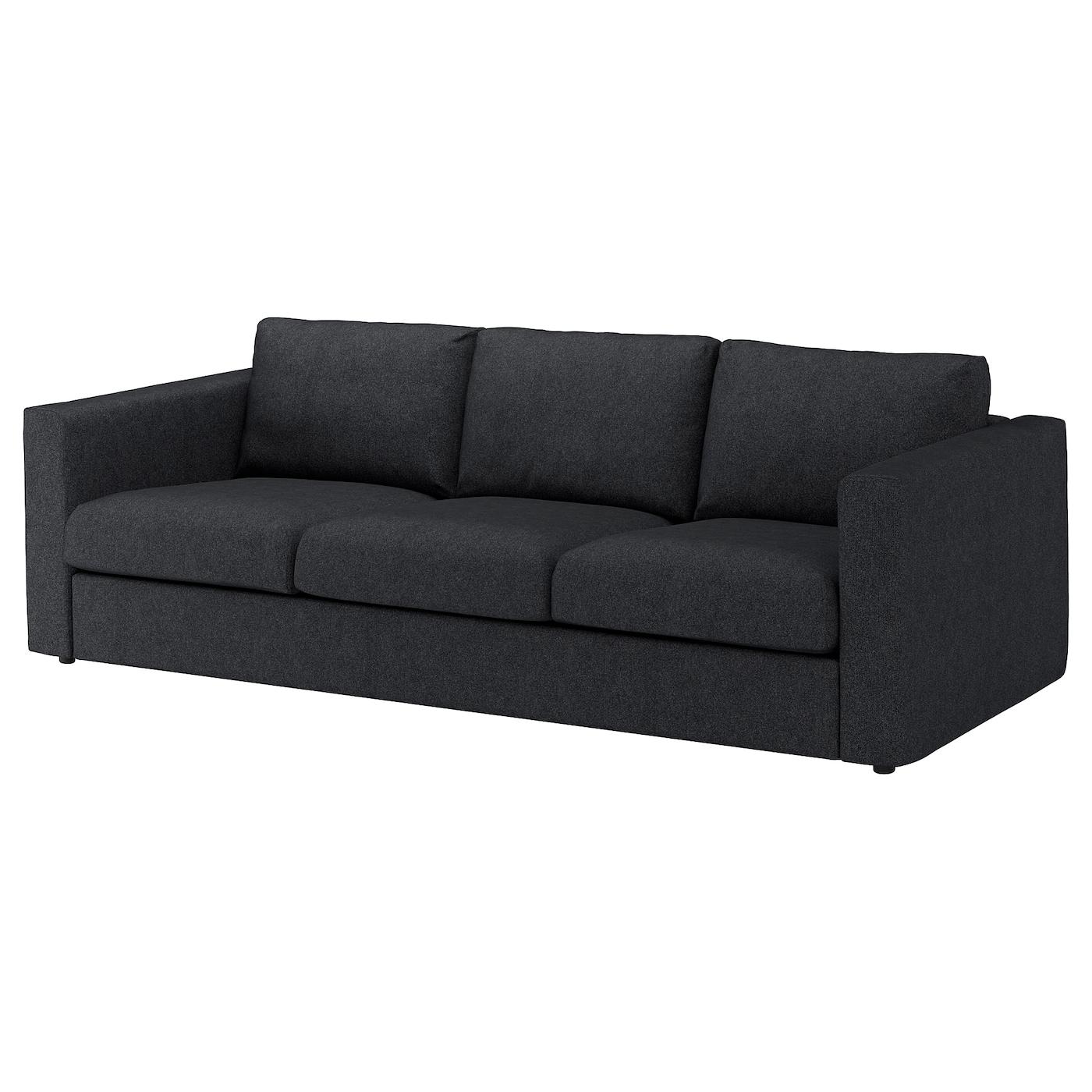 IKEA VIMLE Sofa 3-osobowa, Tallmyra czarny/szary