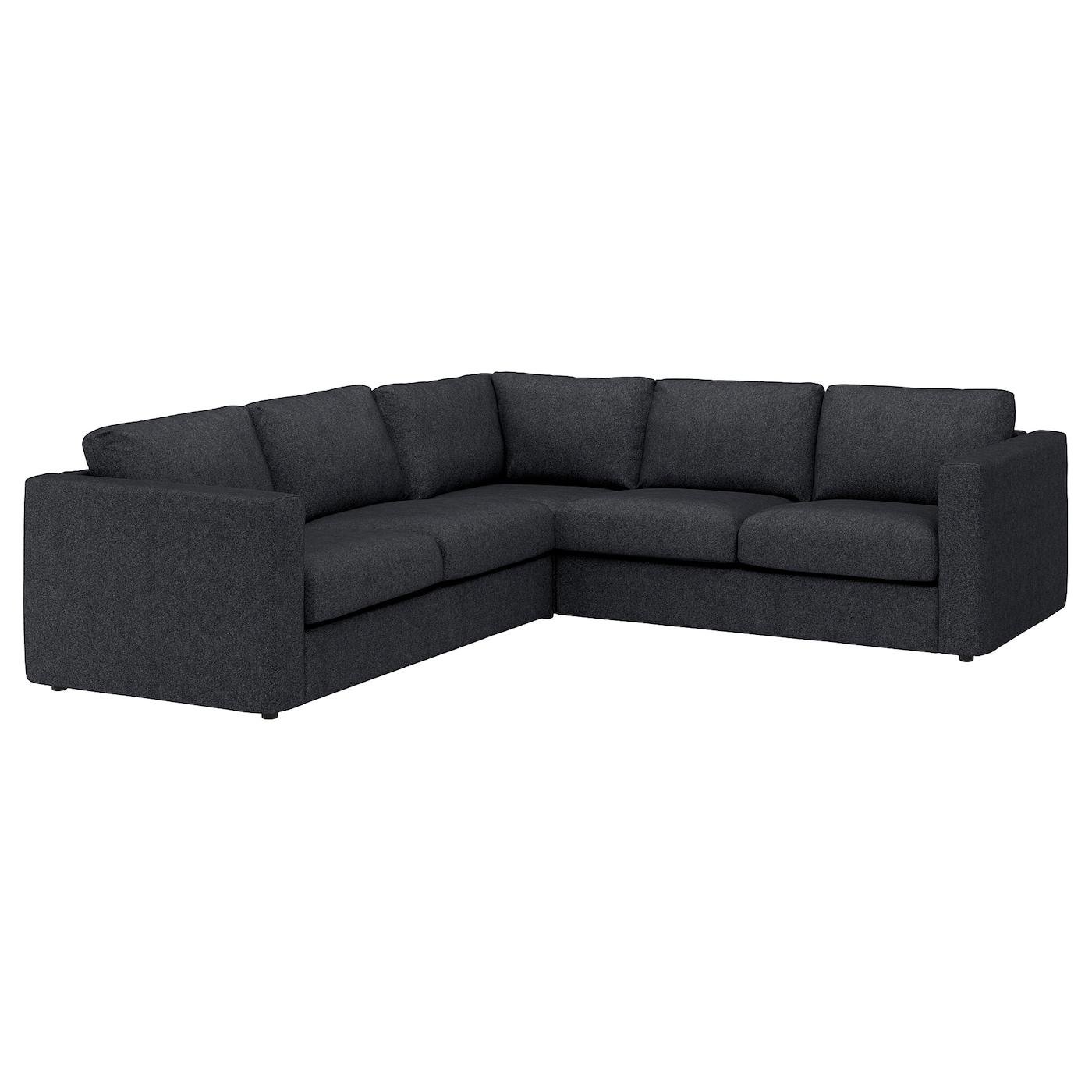 IKEA VIMLE Sofa narożna 4-osobowa, Tallmyra czarny/szary