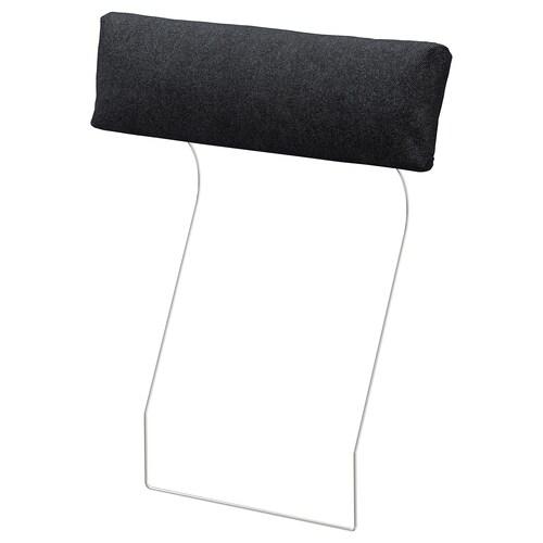 VIMLE zagłówek Tallmyra czarny/szary 70 cm 20 cm 13 cm