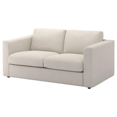 VIMLE sofa 2-osobowa Gunnared beżowy 83 cm 68 cm 171 cm 98 cm 6 cm 15 cm 141 cm 55 cm 48 cm