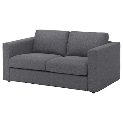 VIMLE Sofa 2-osobowa, Gunnared średnioszary