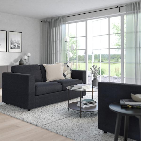 VIMLE Sofa 2-osobowa rozkładana, Saxemara czarnoniebieski