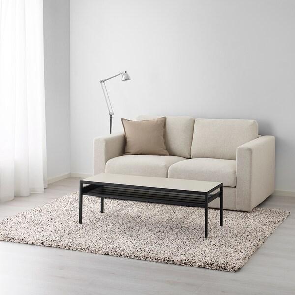 VINDUM Dywan z długim włosiem, biały, 170x230 cm
