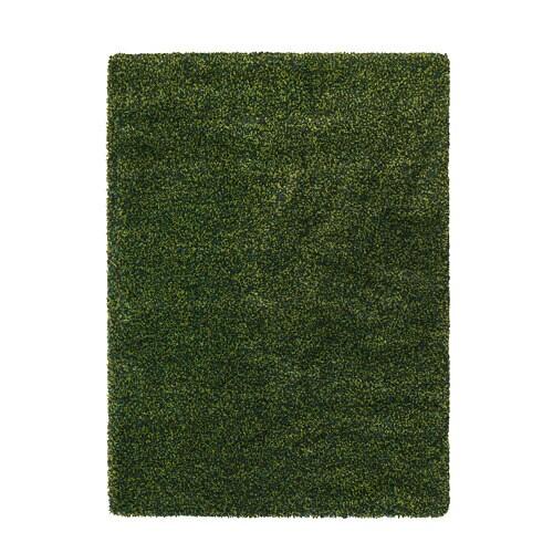 VINDUM paklājs, ar garām plūksnām, zaļš, 200x270 cm