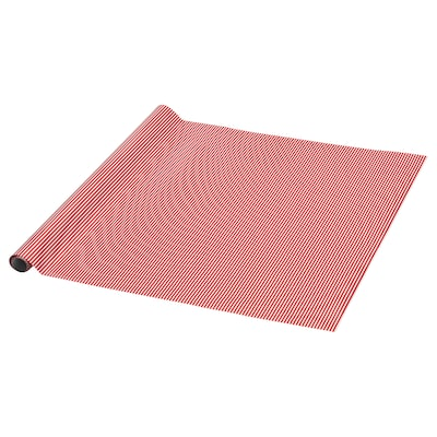 VINTER 2020 Papier do pakowania, wzór w paski czerwony/biały, 3x0.7 m