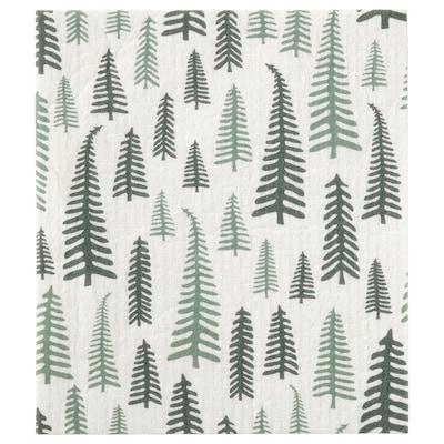 VINTER 2021 Ściereczka do naczyń, wzór w drzewa biały/zielony