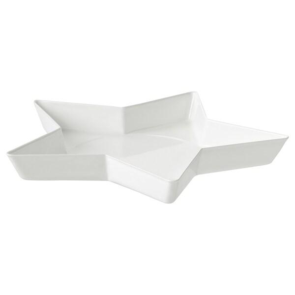 VINTERFEST Podstawka na świecę, gwiazda/biały, 15 cm