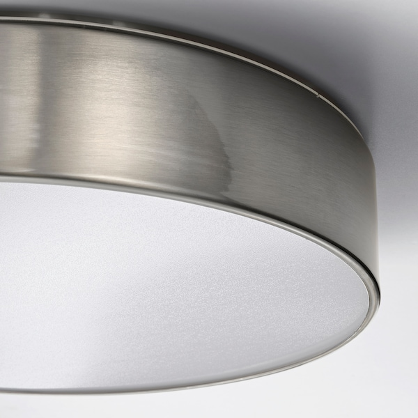 VIRRMO Lampa sufitowa LED, niklowano, 36 cm 800 lm