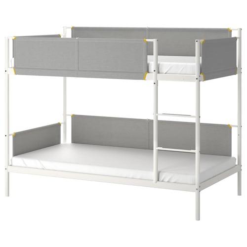 VITVAL rama łóżka piętrowego biały/jasnoszary 207 cm 97 cm 162 cm 23 cm 200 cm 90 cm 91 cm 13 cm