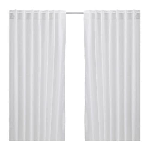 VIVAN Zasłony, 2szt IKEA Cienkie zasłony delikatnie przepuszczają światło; idealne do warstwowego upięcia.