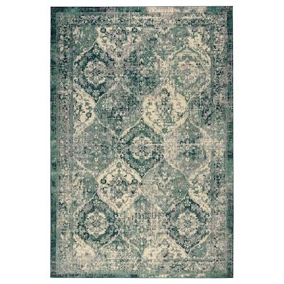 VONSBÄK Dywan z krótkim włosiem, zielony, 133x195 cm