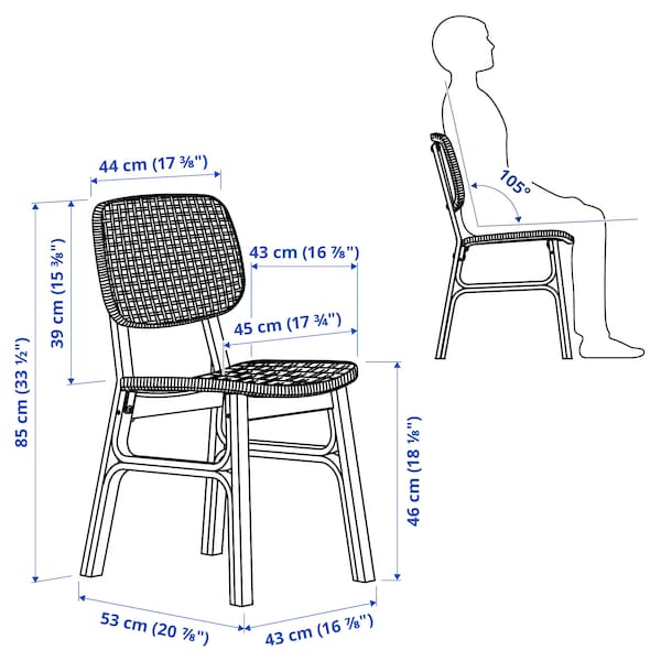 VOXLÖV Krzesło, jasny bambus