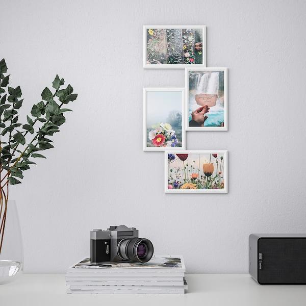 YLLEVAD Ramka na 4 zdjęcia, biały, 21x41 cm