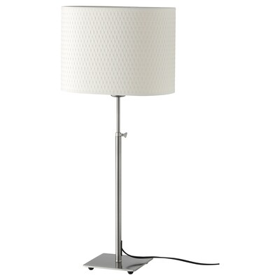 ALÄNG table lamp nickel-plated/white 100 W 30 cm 61 cm 80 cm 206 cm