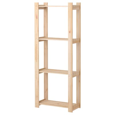 ALBERT Shelving unit, softwood, 64x28x159 cm