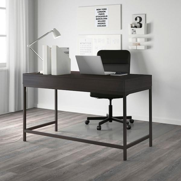 ALEX Desk, black-brown, 132x58 cm