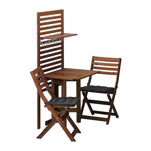 Merveilleux ÄPPLARÖ Wall Panel+gateleg Table+2 Chairs
