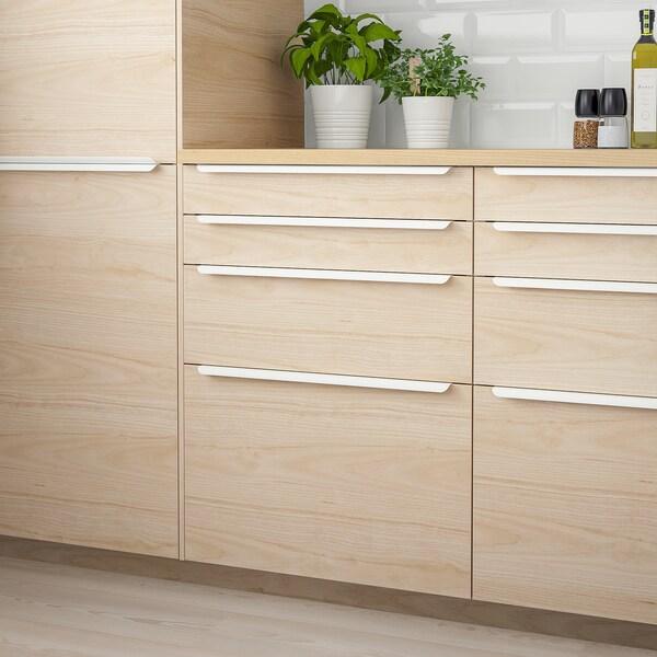 ASKERSUND drawer front light ash effect 59.7 cm 10 cm 60 cm 9.7 cm 1.6 cm 2 pack