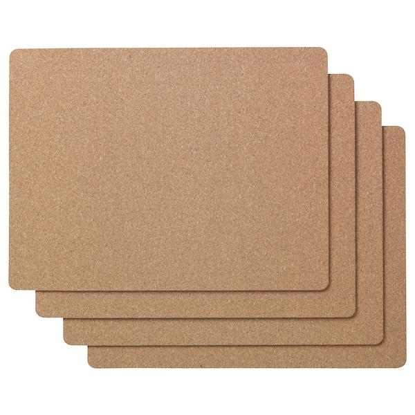 AVSKILD place mat cork 42 cm 32 cm 4 pack