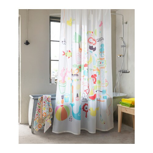 BADBÄCK Shower curtain IKEA Densely woven polyester fabric with water-repellent coating.