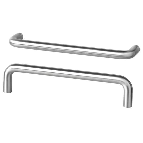 BAGGANÄS handle stainless steel 143 mm 9 mm 31 mm 5 mm 128 mm 2 pack