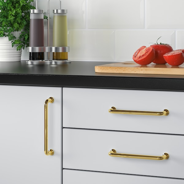 BAGGANÄS handle brass-colour 143 mm 9 mm 31 mm 5 mm 128 mm 2 pack