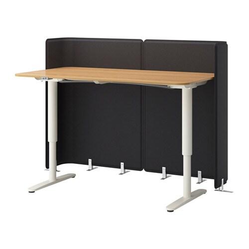 BEKANT Reception desk sit stand oak veneer white IKEA