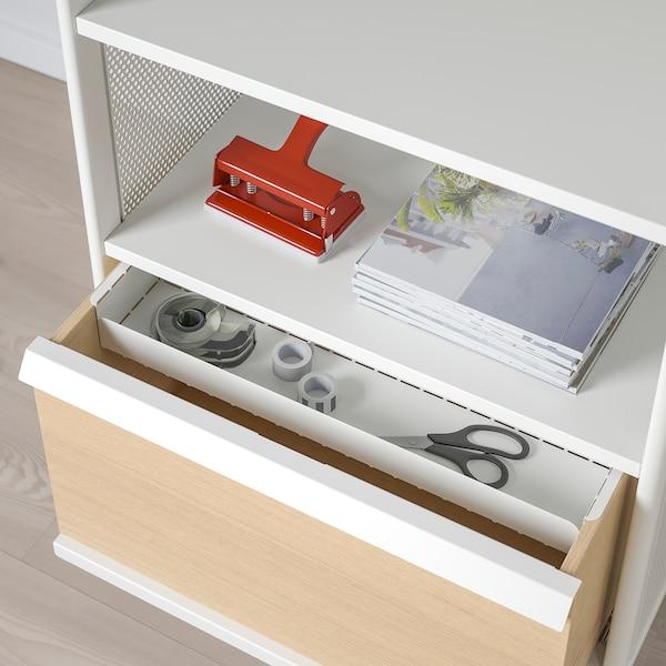 BEKANT Storage unit on castors, mesh white, 61x101 cm